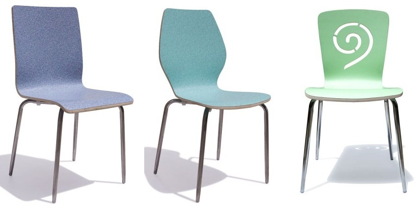 ghế gỗ uốn cong dán laminate