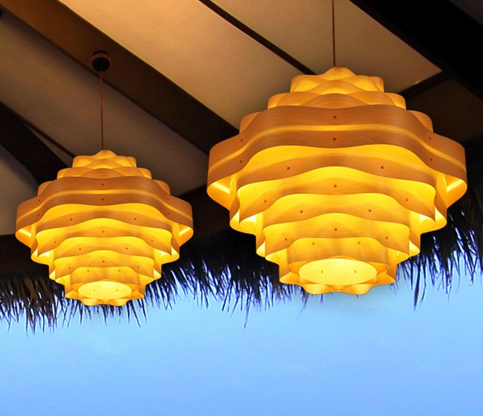 veneer kỹ thuật dùng làm đèn chiếu sáng