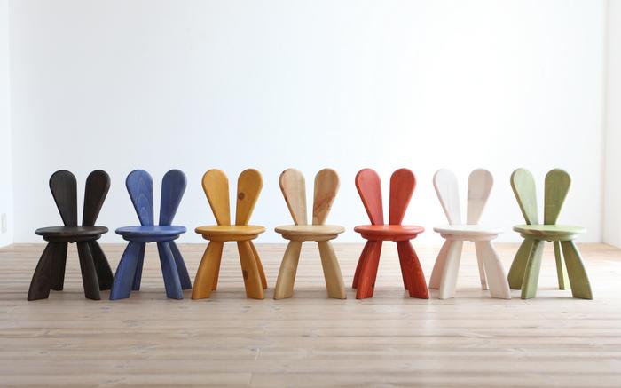 ghế uốn cong hình tai thỏ
