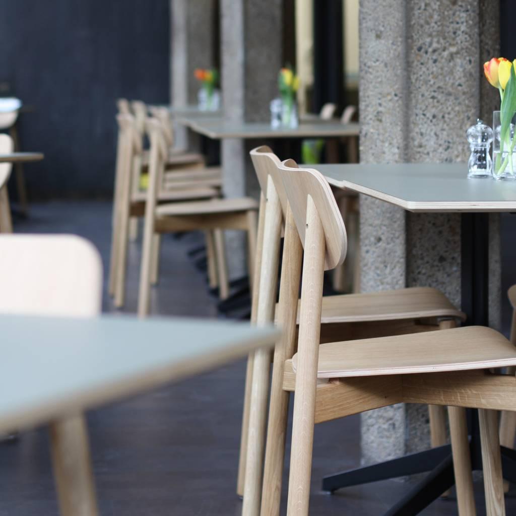 ghế gỗ nhà hàng ván ép dán veneer